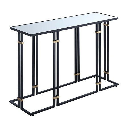 Mercury Console Table, One Size , Black