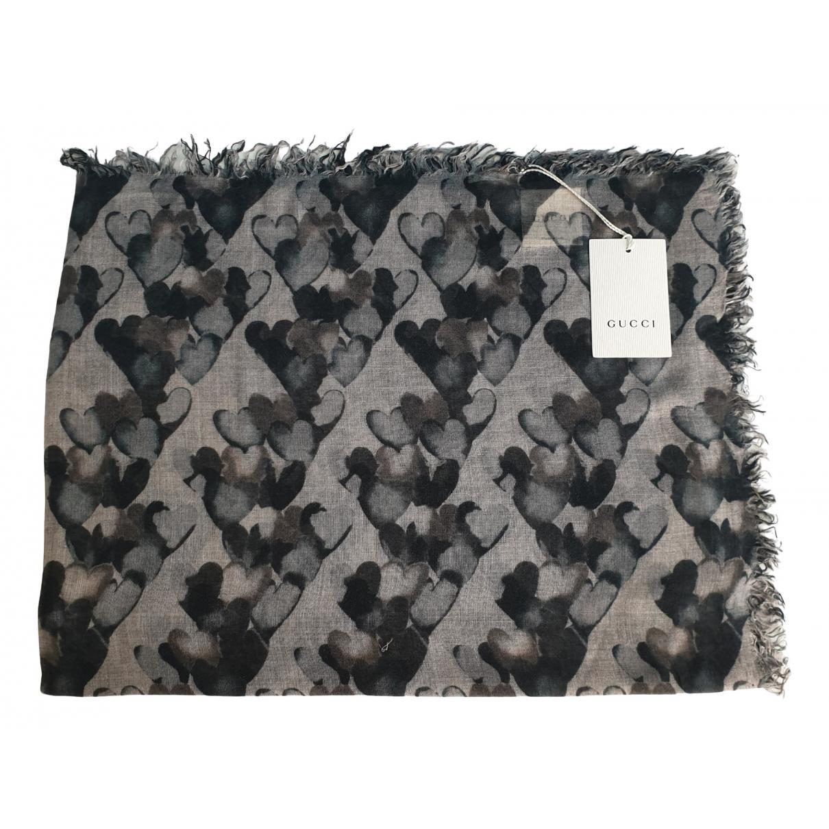 Gucci - Foulard   pour femme - gris