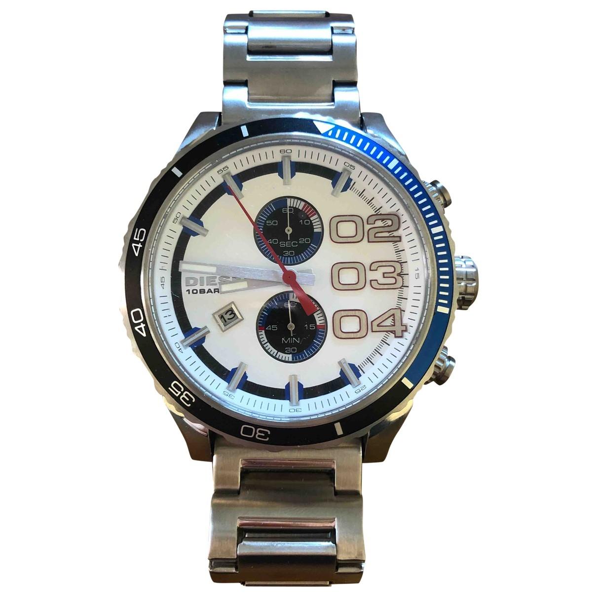 Diesel \N Uhr in  Silber Stahl