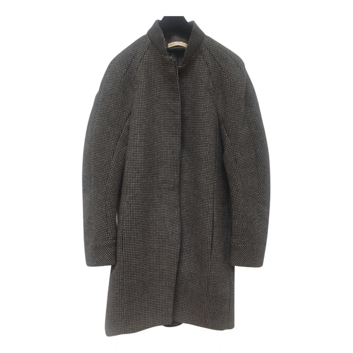 Balenciaga N Grey Wool coat for Women 38 IT