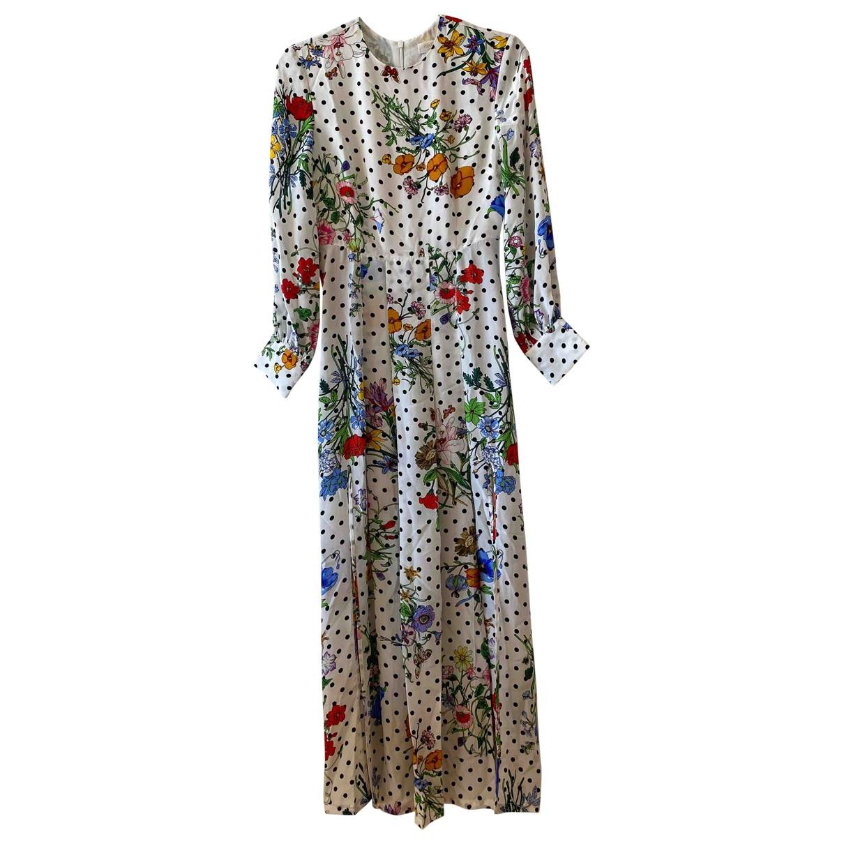 Rixo - Robe   pour femme en soie - blanc
