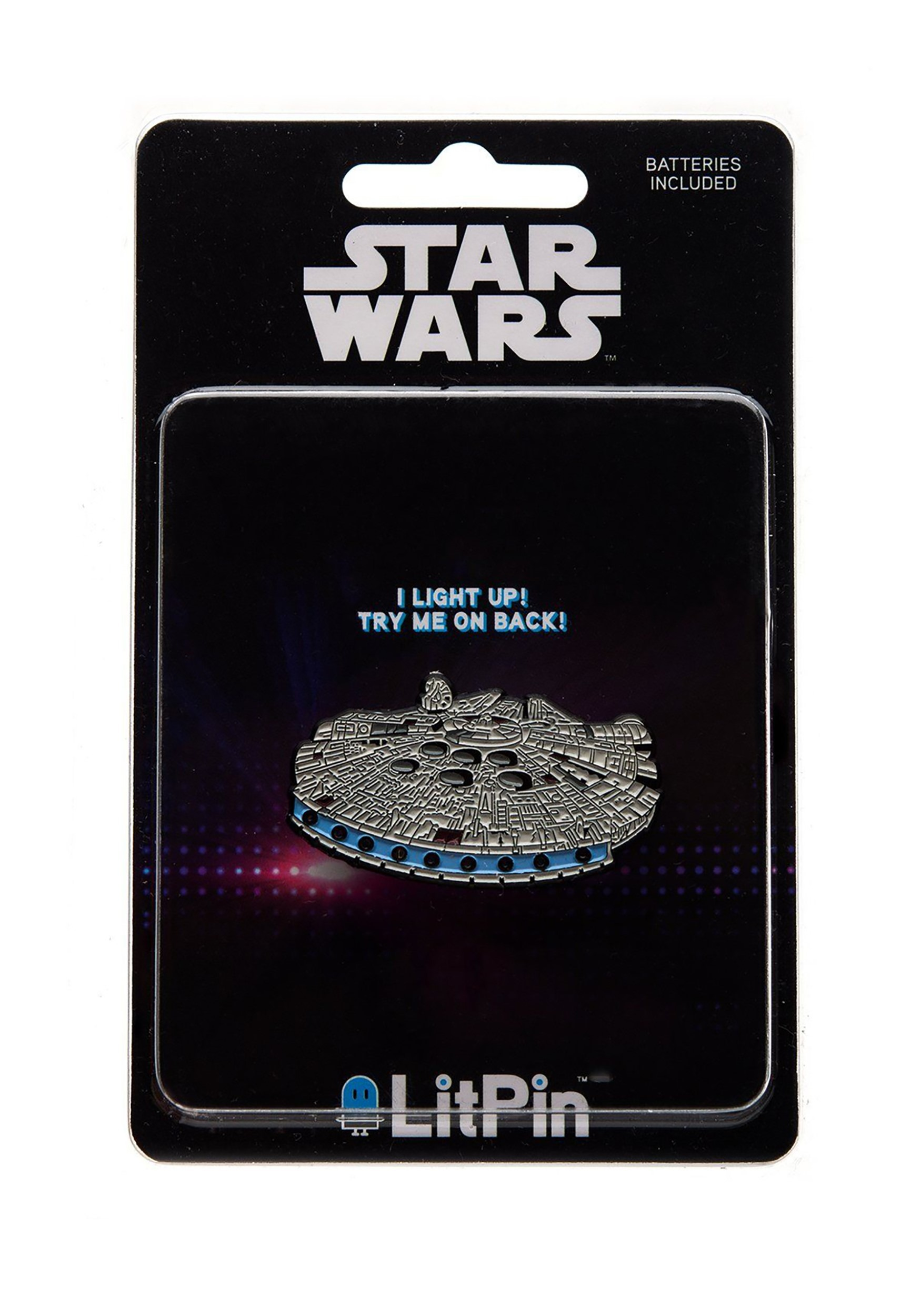 Millennium Falcon Star Wars Light Up Pin