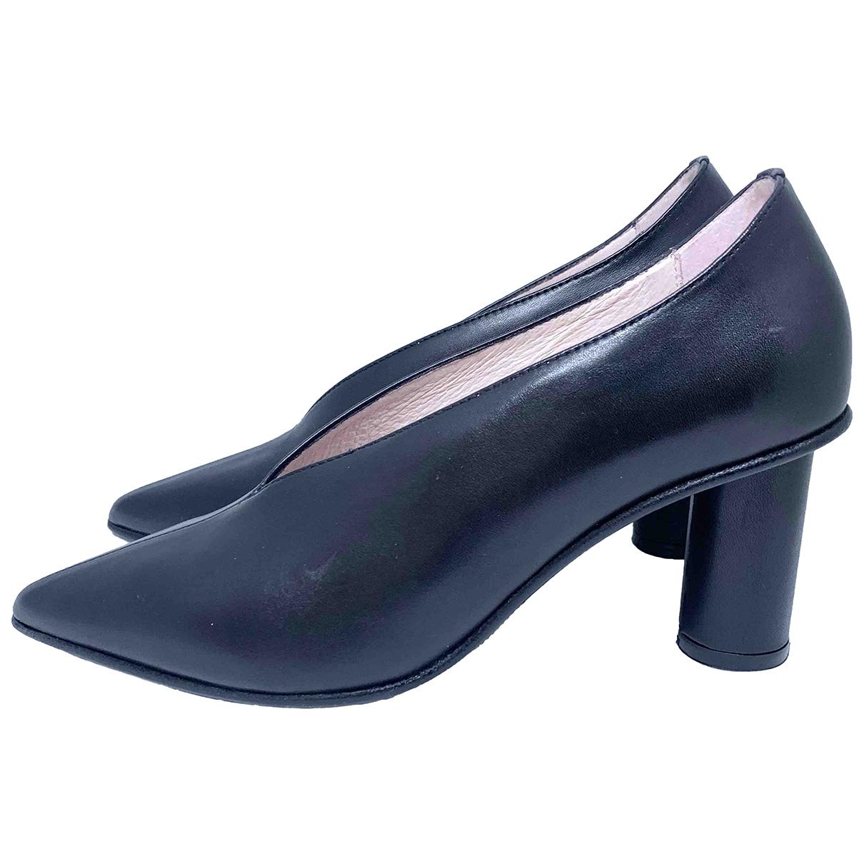 Marimekko - Escarpins   pour femme en cuir - noir