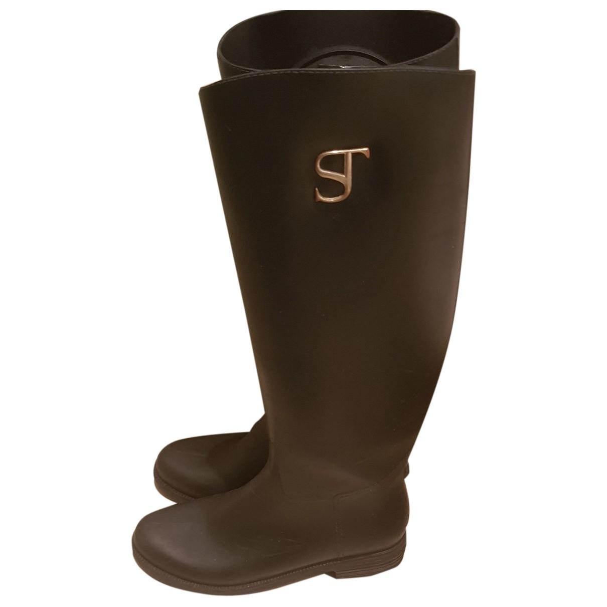 Supertrash \N Stiefel in  Schwarz Kautschuk