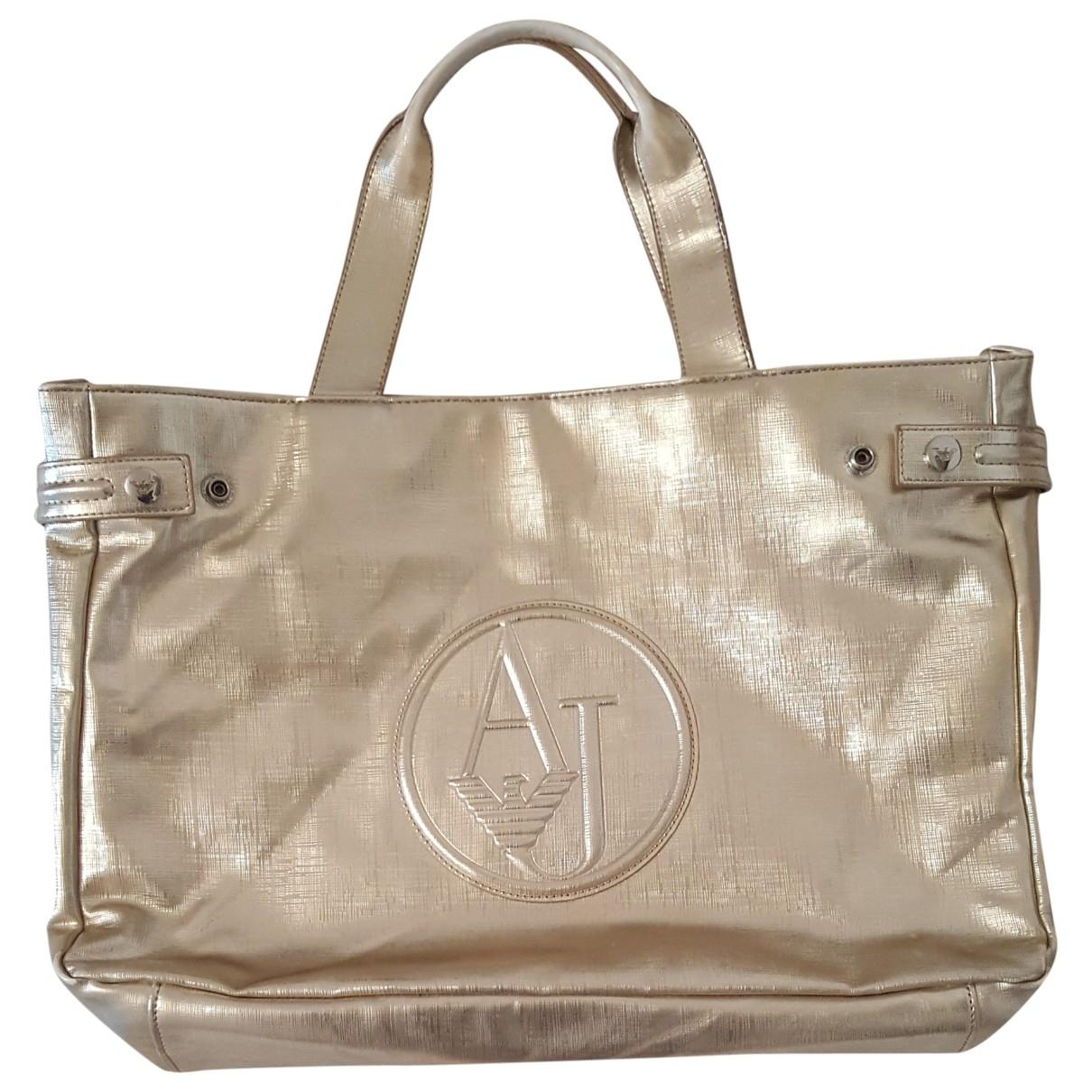 Armani Jeans \N Gold handbag for Women \N