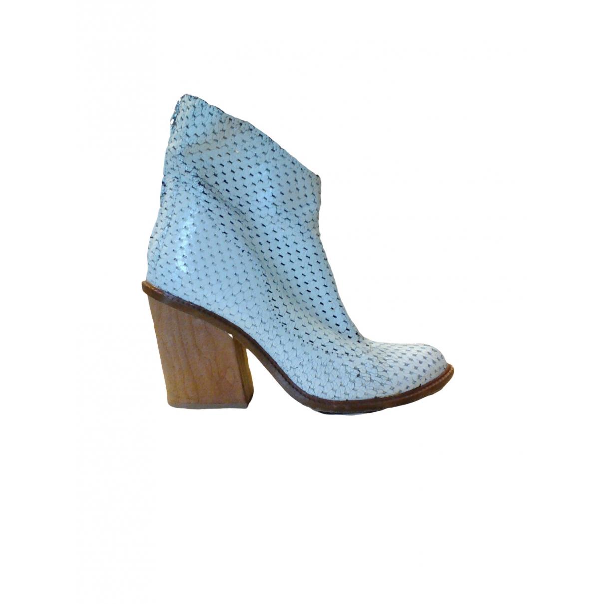 Diesel - Boots   pour femme en cuir - blanc
