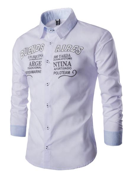 Milanoo Camiseta impresa casual para hombres