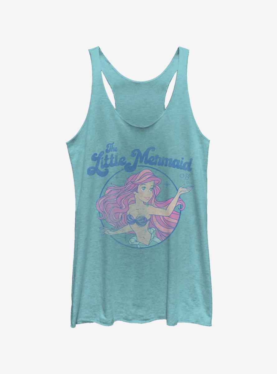 Disney The Little Mermaid Faded Ariel Art Womens Tank Top