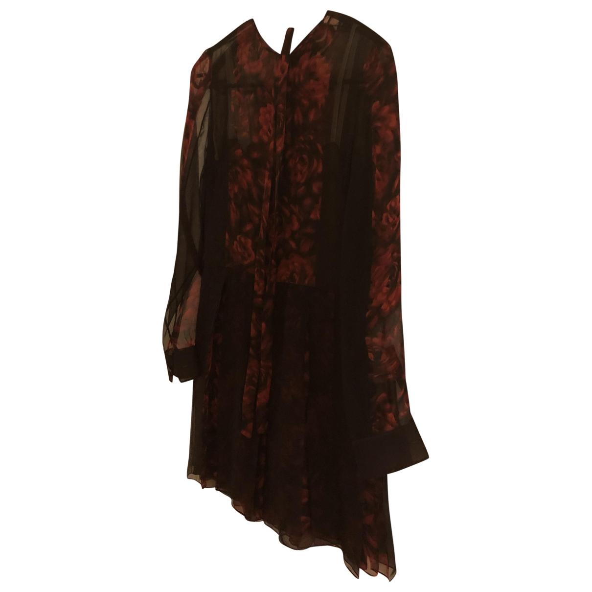 Valentino Garavani \N Burgundy Silk jumpsuit for Women 38 IT
