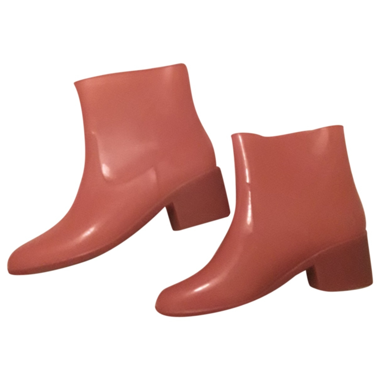 Non Signé / Unsigned \N Pink Rubber Ankle boots for Women 38 EU
