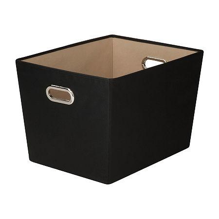 Honey-Can-Do Storage Bin, One Size , Black