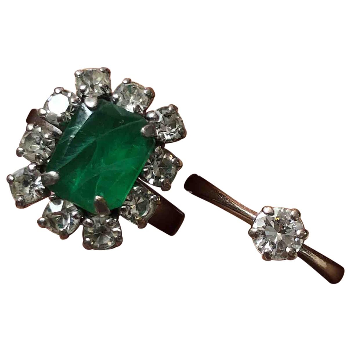 Christian Dior - Bague   pour femme en acier - vert