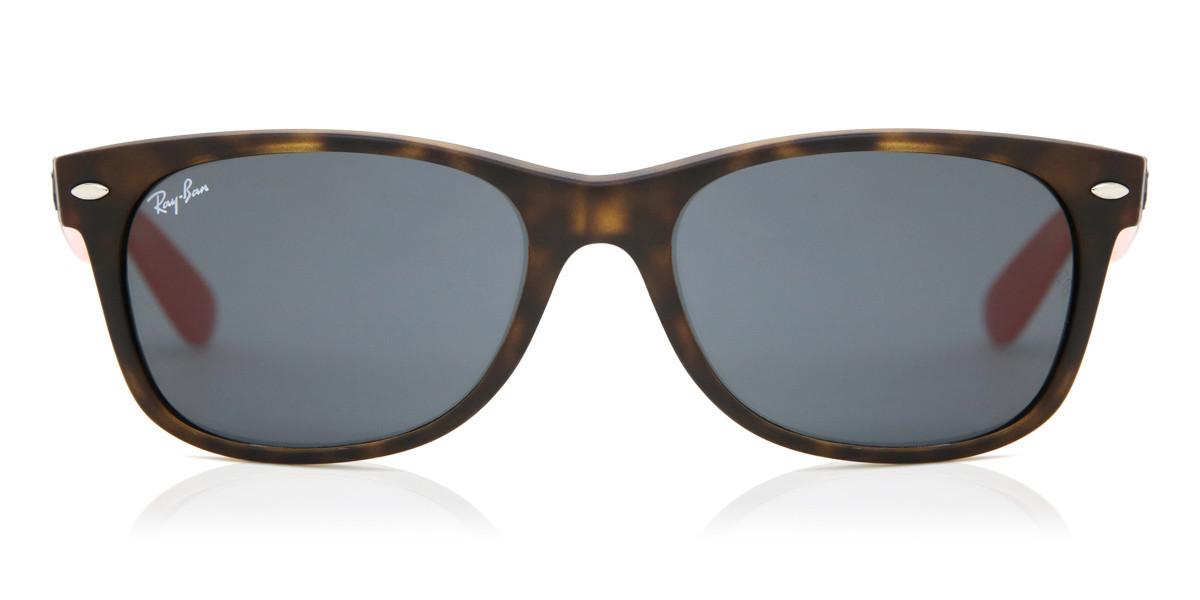 Ray-Ban RB2132 New Wayfarer Bicolor 6180R5 Men's Sunglasses Tortoise Size 52