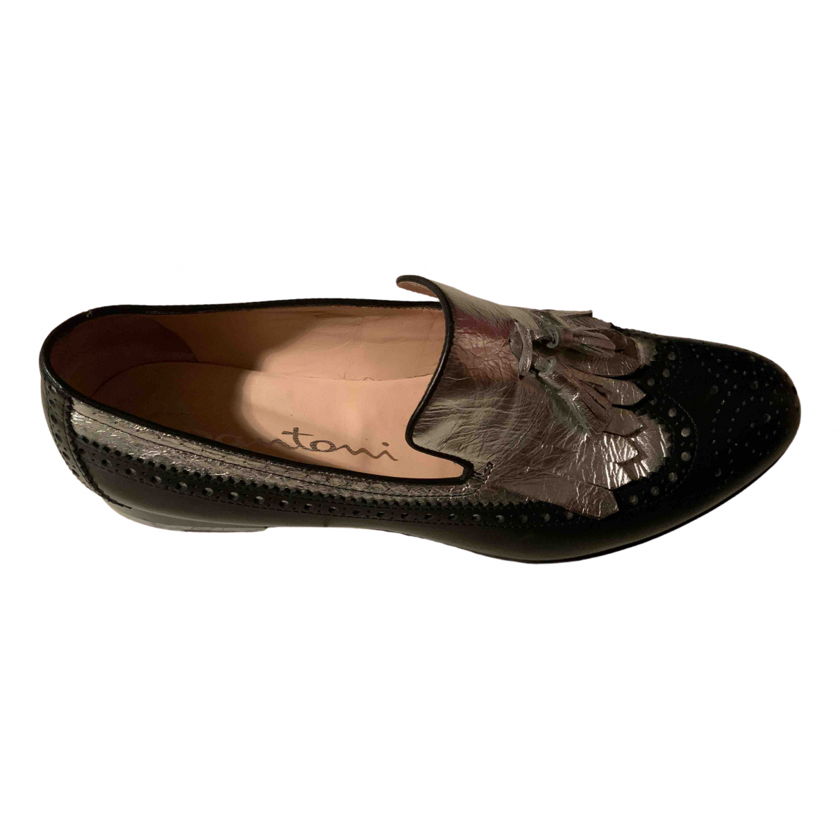 Santoni N Multicolour Leather Flats for Women 39 EU