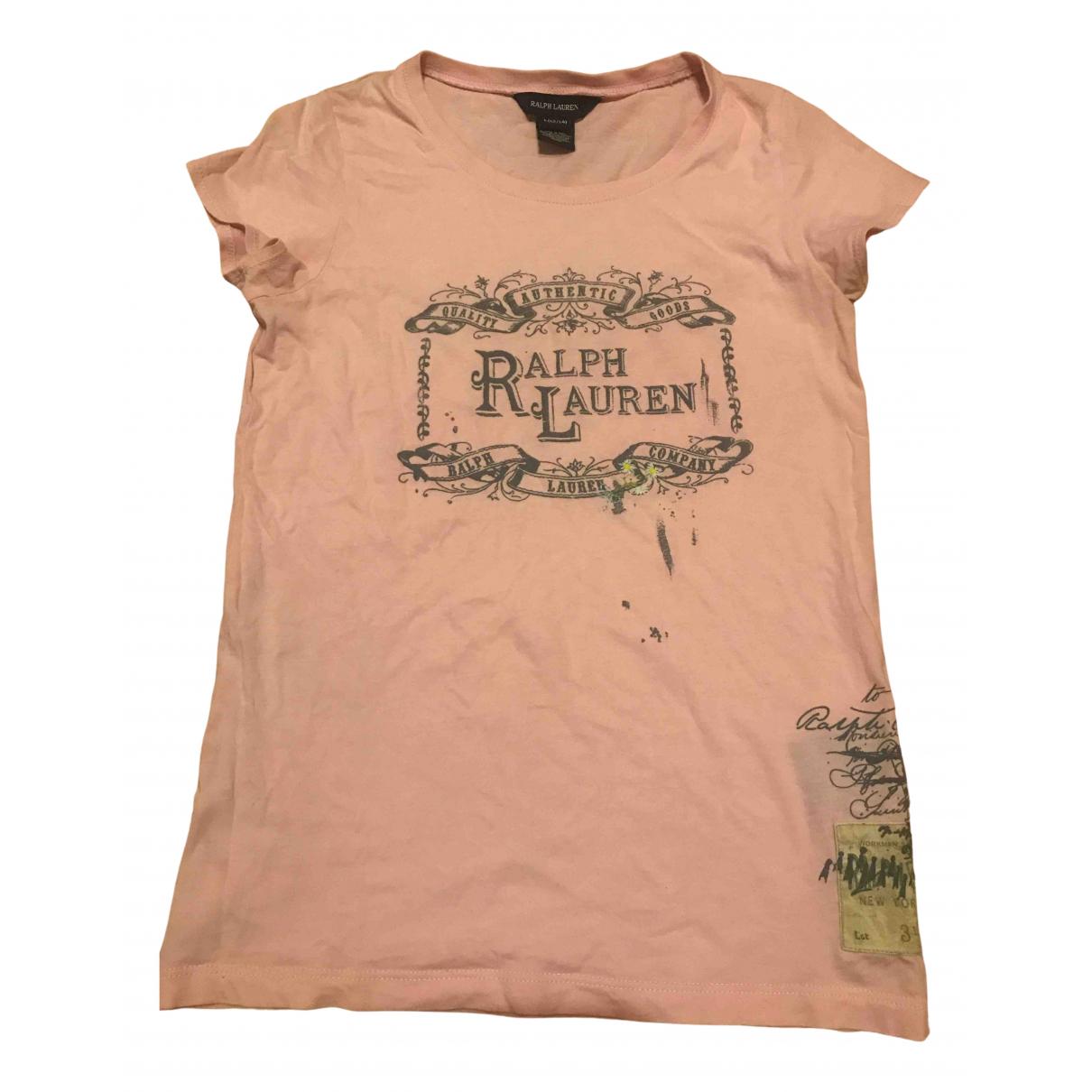 Ralph Lauren N Pink Cotton  top for Kids 14 years - S FR