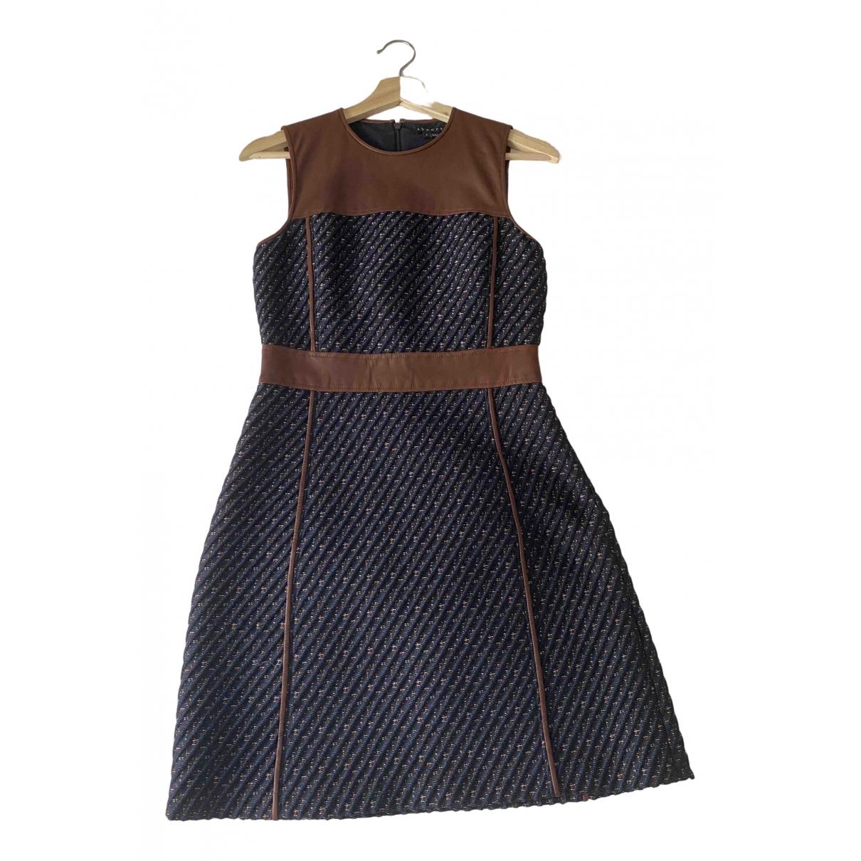 Theory \N Kleid in  Blau Lackleder