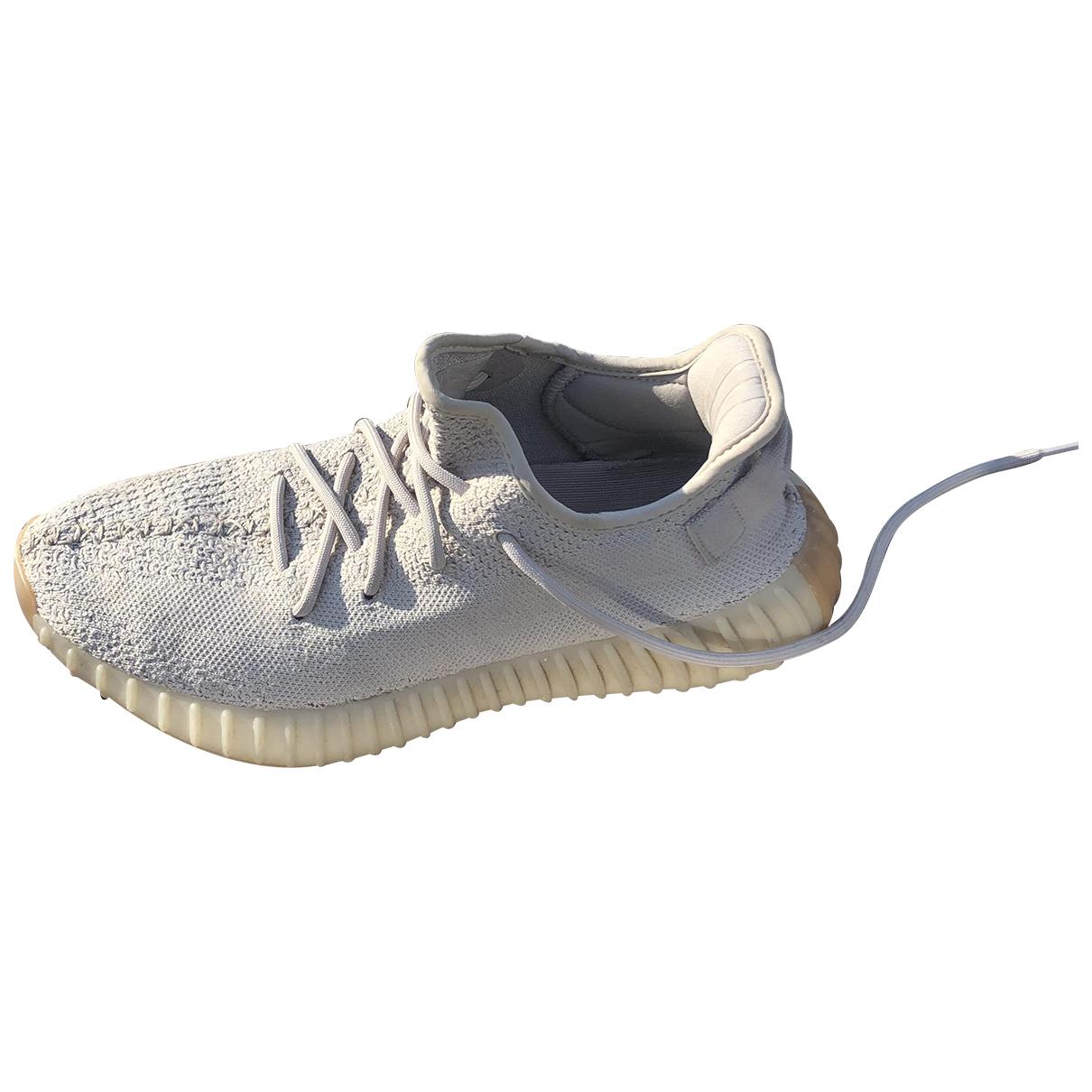 Yeezy X Adidas - Baskets Boost 350 V2 pour femme en toile - ecru