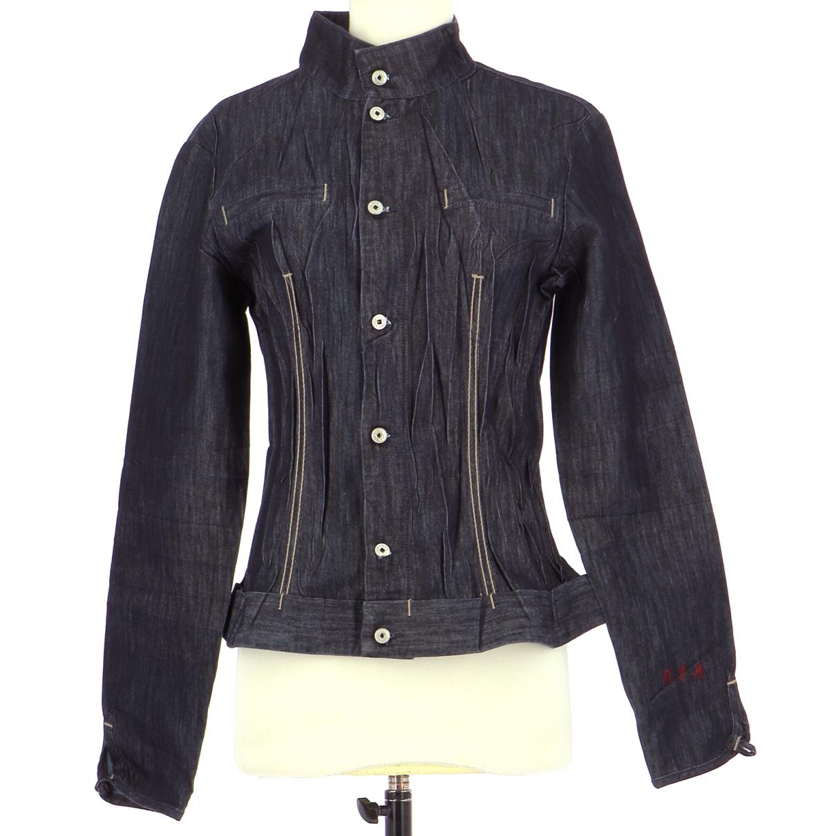 Autre Marque N Navy Cotton jacket for Women 40 FR