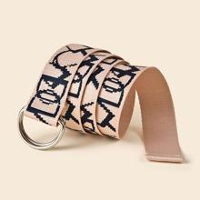 Cinturon con cinta con letra