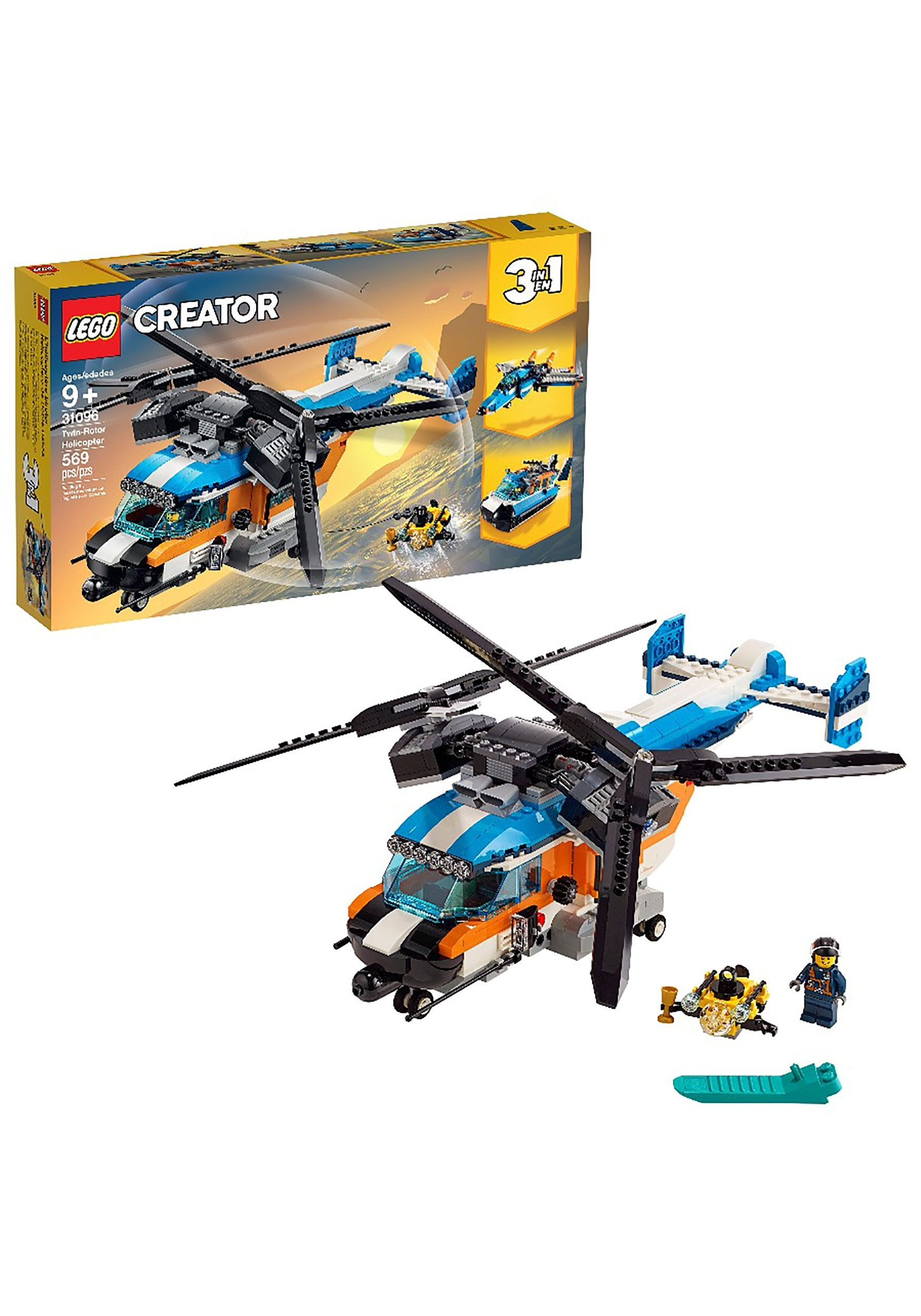 Twin Rotor LEGO Creator Helicopter