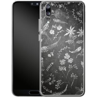 Huawei P20 Silikon Handyhuelle - Flowers in chalk von ND Tank
