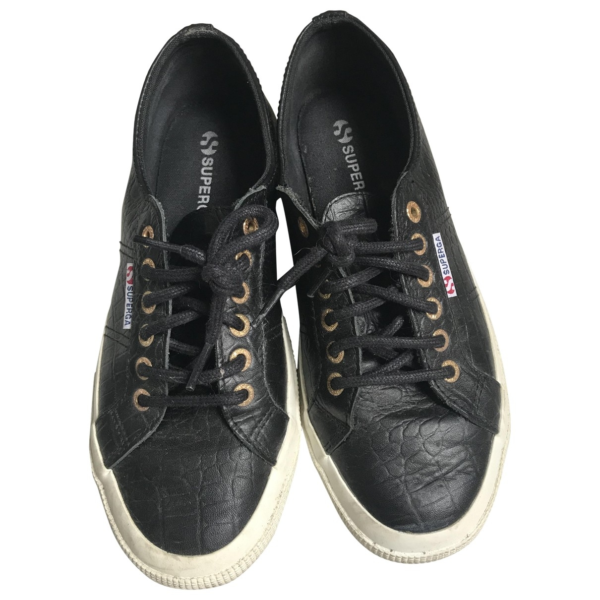 Superga \N Black Leather Trainers for Women 41 EU