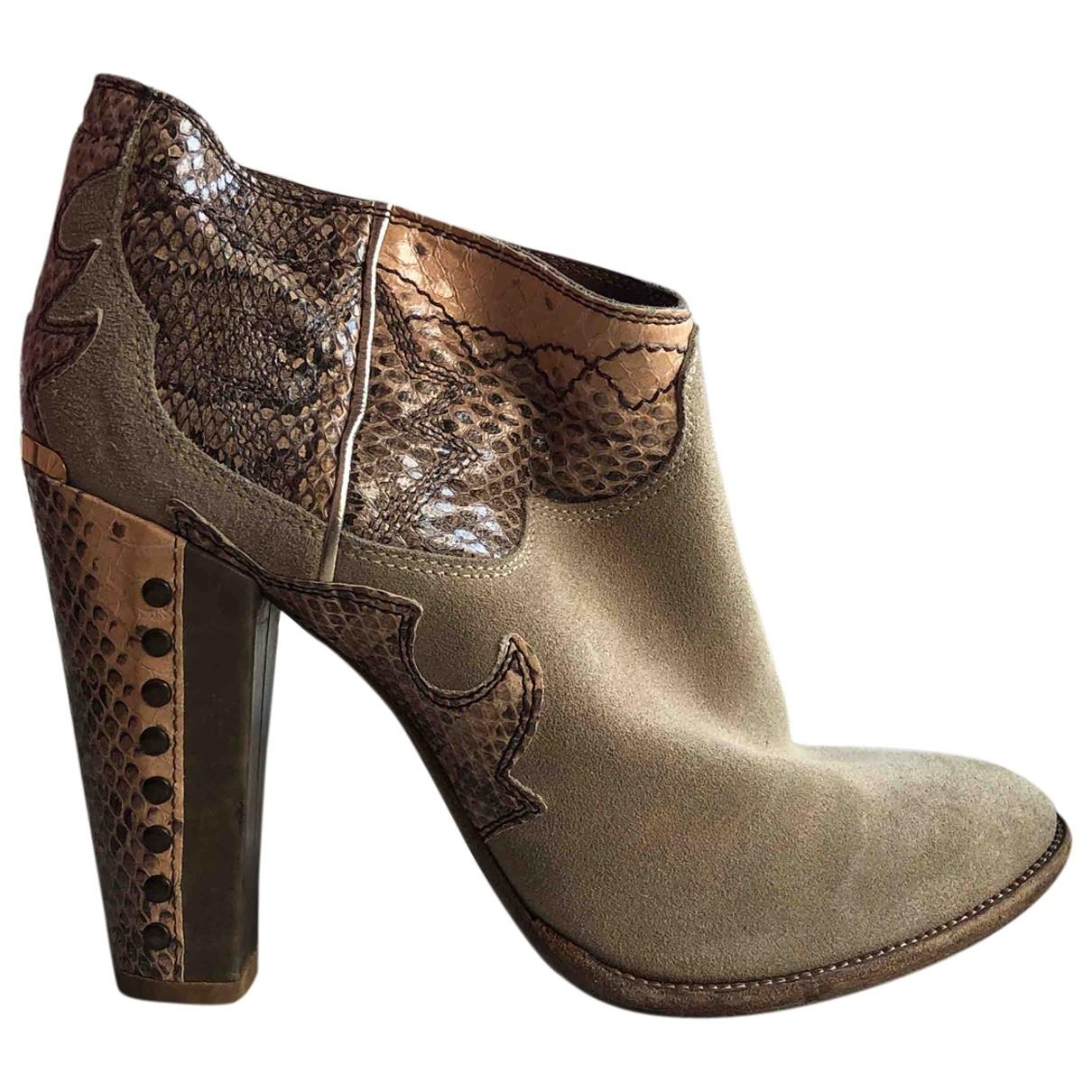 Just Cavalli - Boots   pour femme en suede - beige