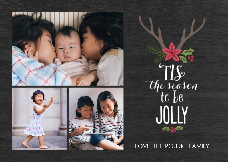Christmas Photo Cards 5x7 Cards, Premium Cardstock 120lb with Elegant Corners, Card & Stationery -Season of Jolly