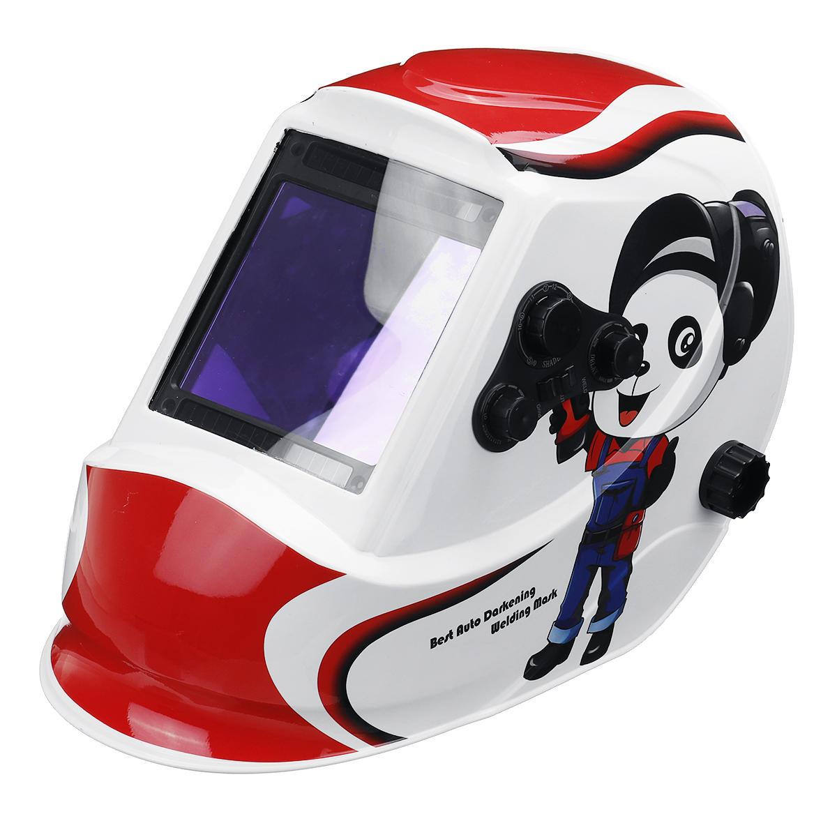Panda Big Window 4 Sensors for External Adjustment Solar Automatic Dimming Welding Mask Welding Helmet Din5-Din13