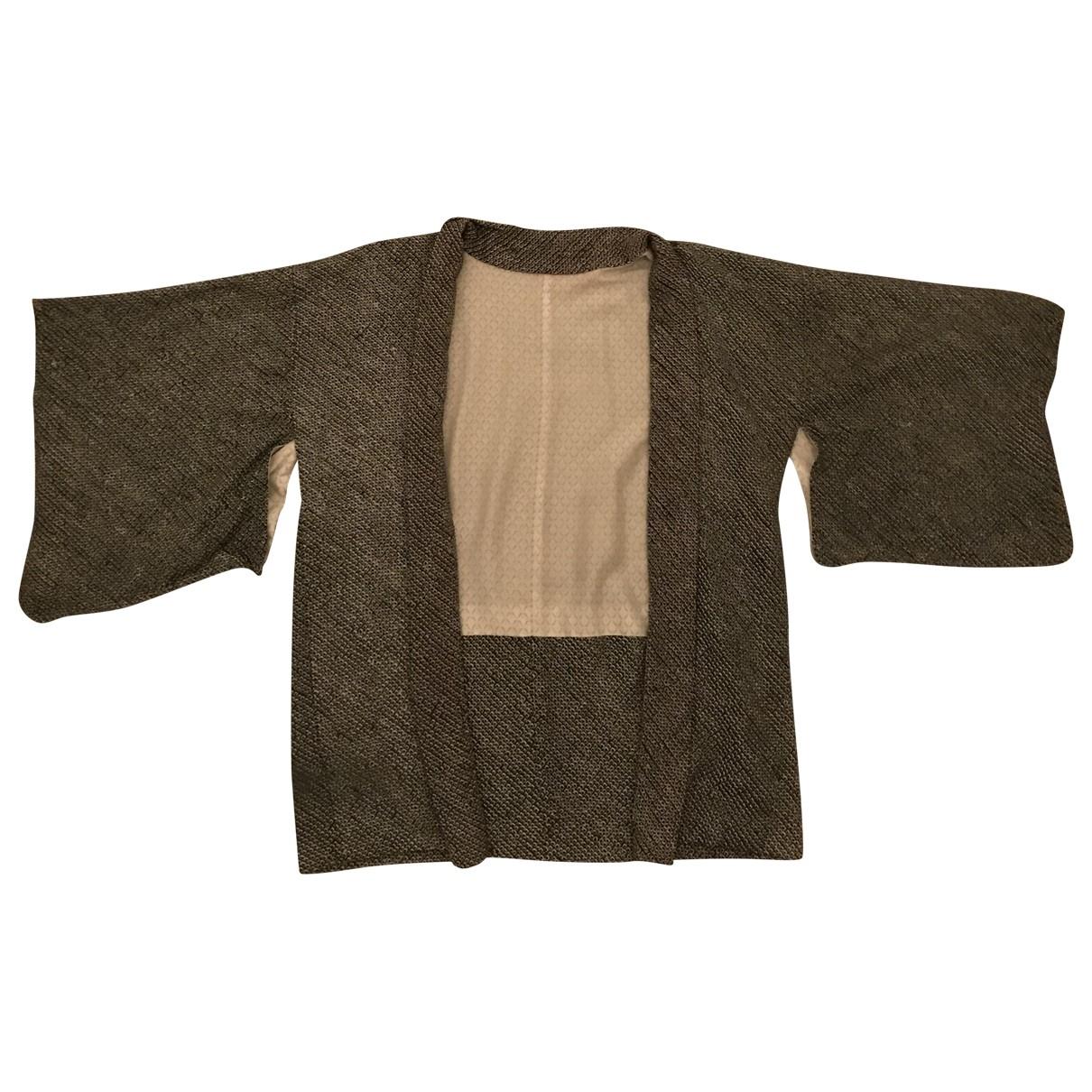 - Veste Oversize pour femme en coton - vert