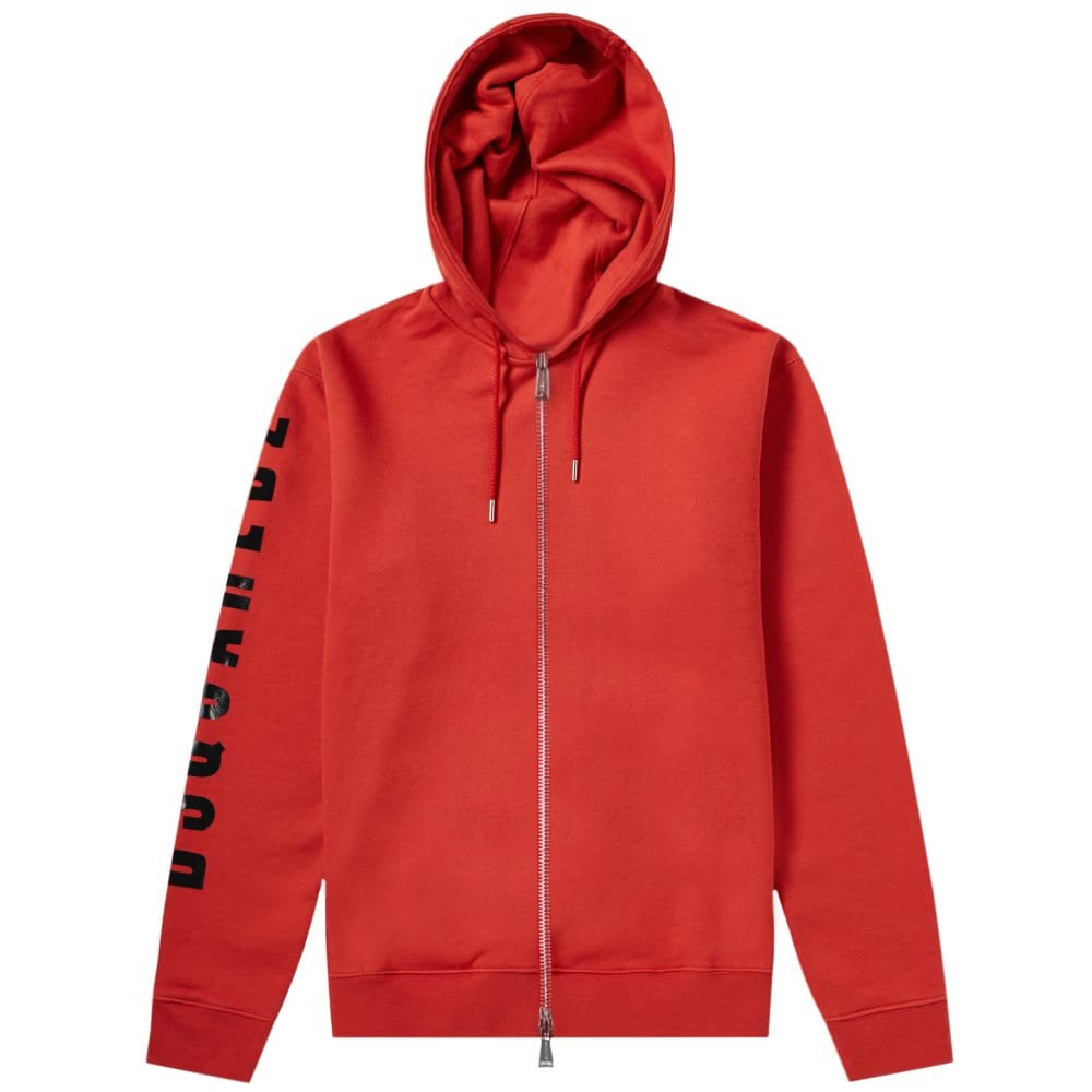 Dsquared2 Arm Logo Hoodie Red Colour: RED, Size: MEDIUM