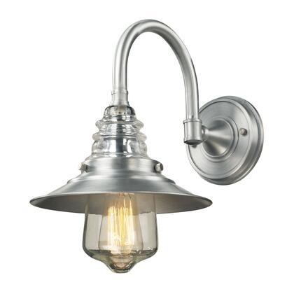66702-1 Insulator Glass 1 Light Outdoor Sconce in Brushed