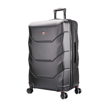 DUKAP Zonix Hardside 30 Inch Luggage, One Size , Black