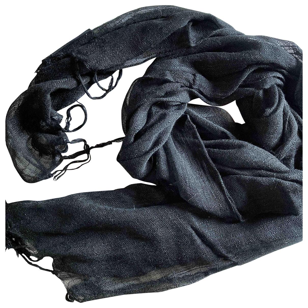 Non Signe / Unsigned \N Schal in  Schwarz Polyester