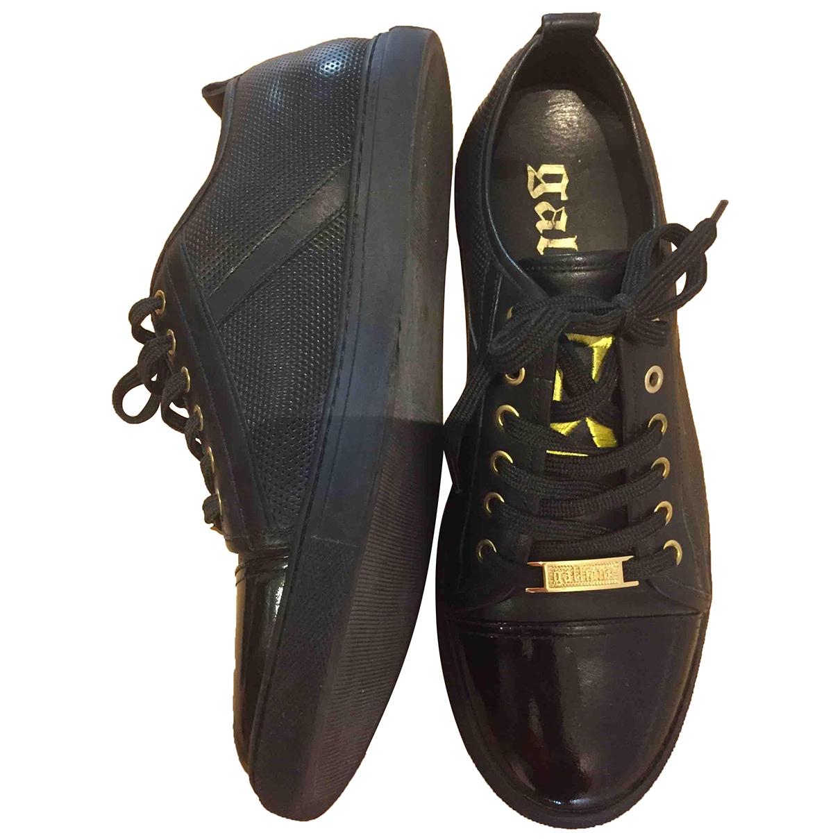 Galliano - Baskets   pour femme en cuir - noir