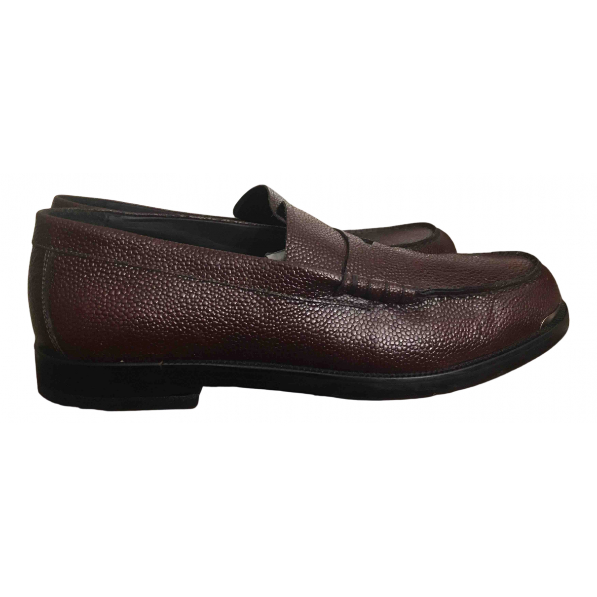 Emporio Armani - Derbies   pour homme en cuir - marron