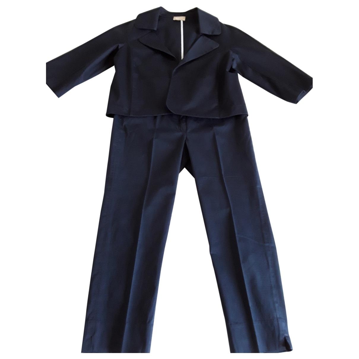 Non Signé / Unsigned \N Navy Cotton jumpsuit for Women 40 IT