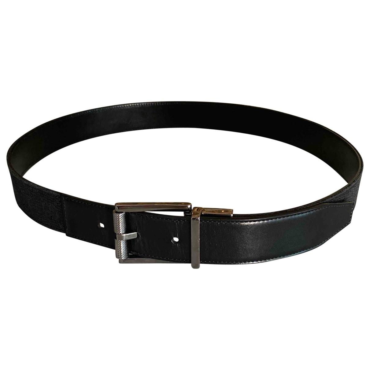 Gucci \N Black Leather belt for Men 80 cm