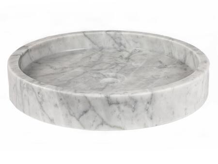 EB_S045CW-P Low Round Vessel Sink - White Carrara