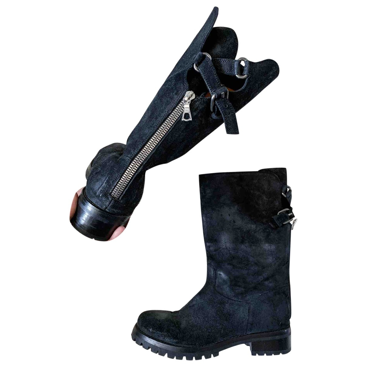 Sartore \N Black Leather Boots for Women 40 EU