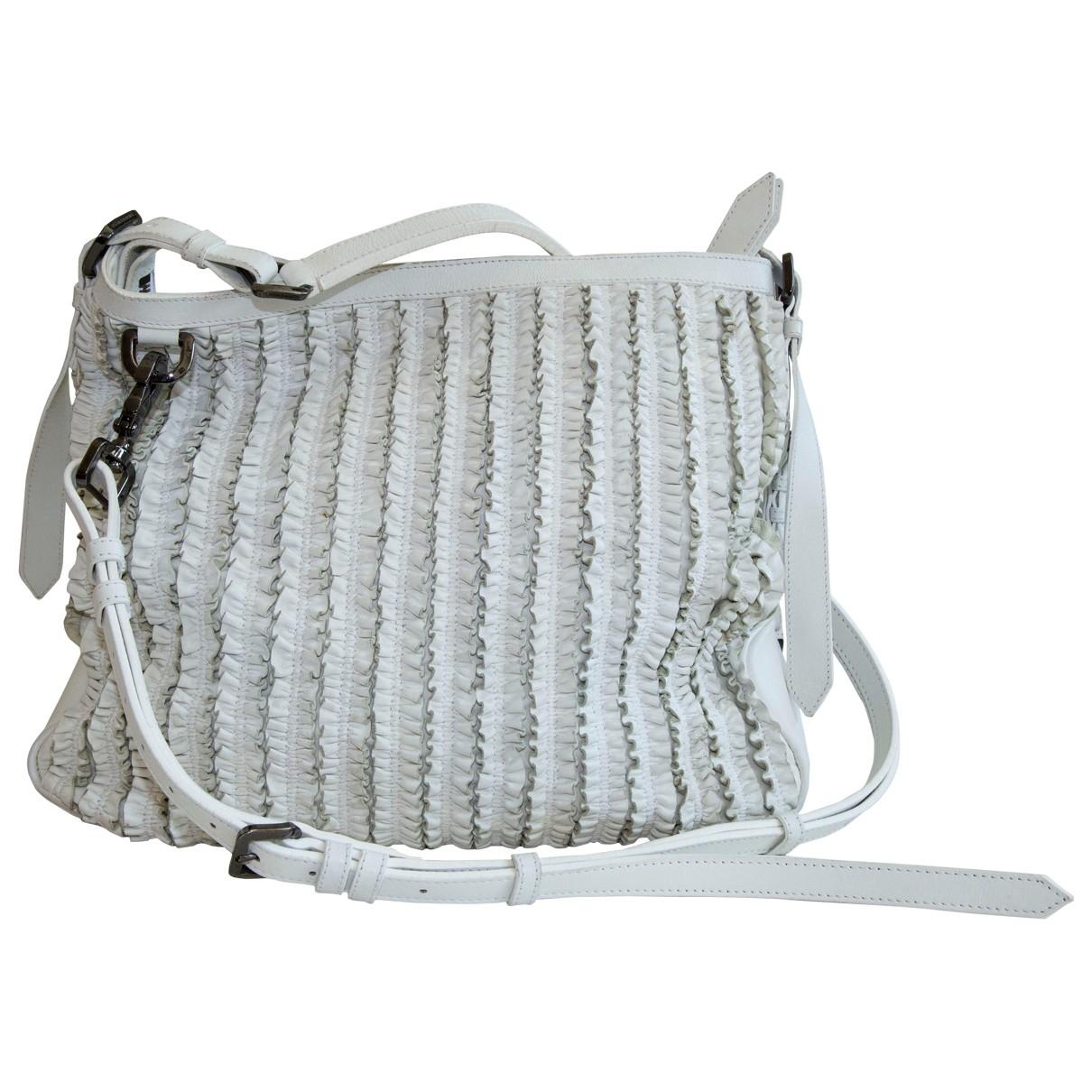Burberry \N White Leather handbag for Women \N