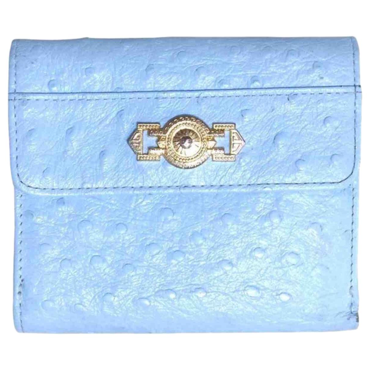 Gianni Versace \N Kleinlederwaren in  Blau Leder