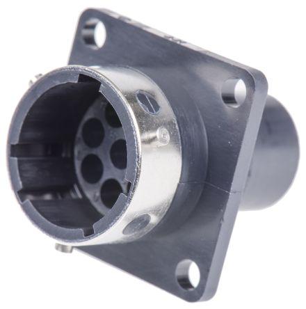 ITT Cannon Connector, 8 contacts Panel Mount Socket, Crimp
