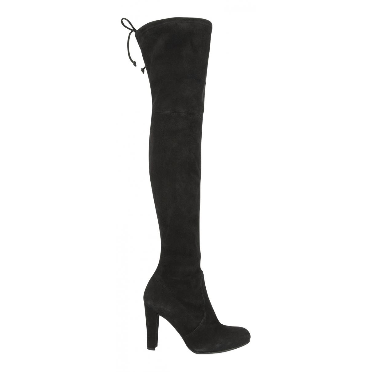 Stuart Weitzman N Black Suede Boots for Women 2.5 UK