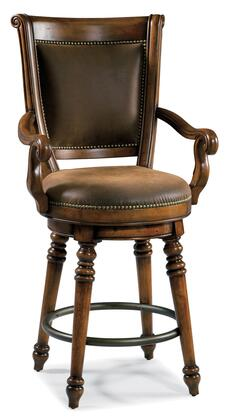 Waverly Place Collection 366-75-550 Return Memory Swivel Counter Stool with Turned Legs  Fabric Upholstery and Veneer Construction in Distressed