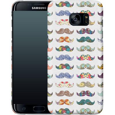 Samsung Galaxy S7 Edge Smartphone Huelle - Mustache Mania von Bianca Green