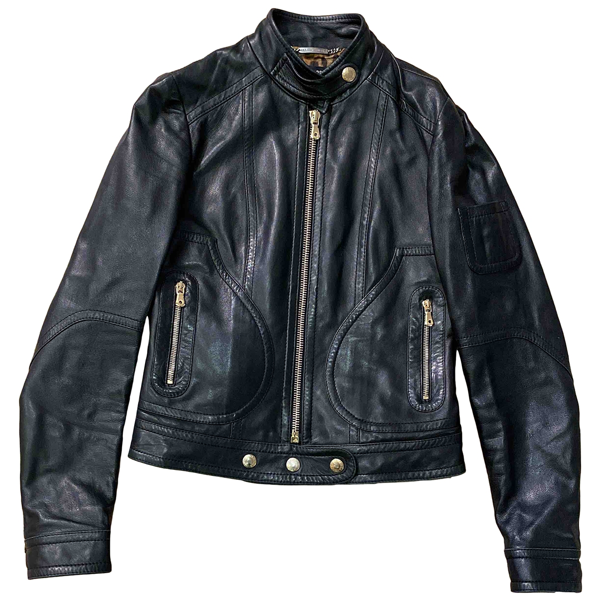 Dolce & Gabbana \N Black Leather Leather jacket for Women 38 IT