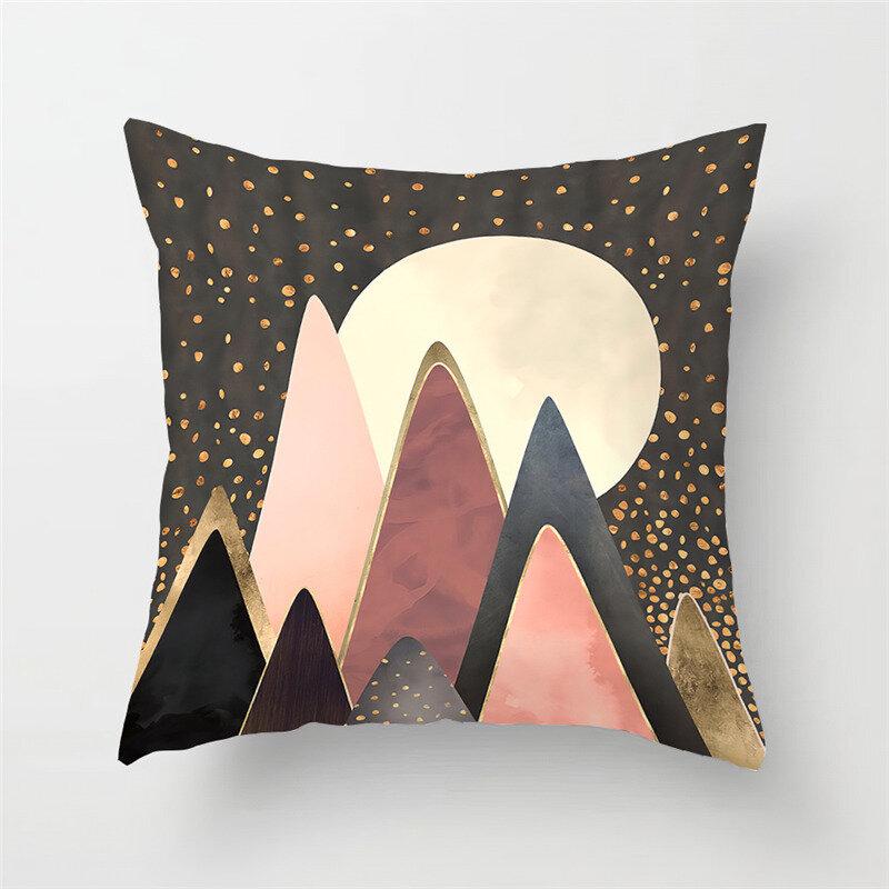 Modern Abstract Landscape Linen Cushion Cover Home Sofa Throw Pillowcases Home Decor