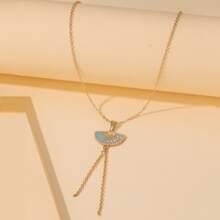 Fan Charm Y-lariat Necklace