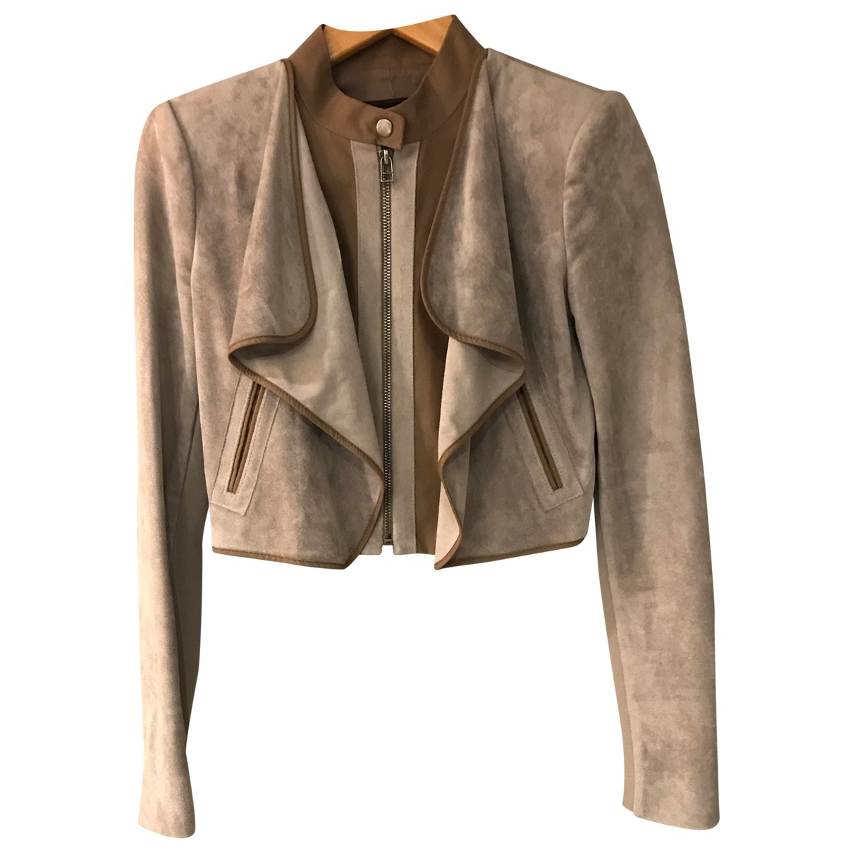 Bcbg Max Azria \N Leather jacket for Women XS International